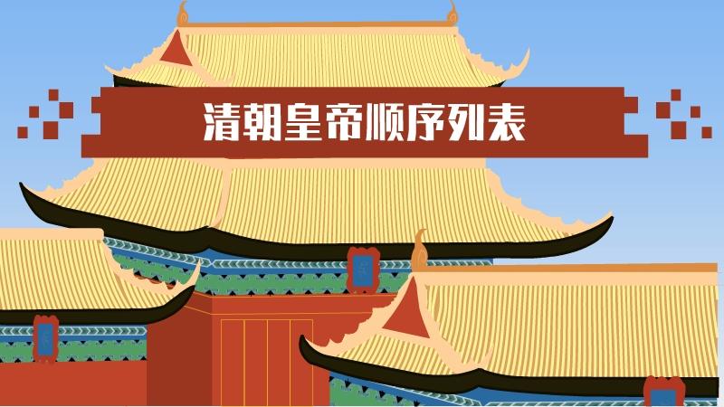 清朝皇帝顺序列表的名称