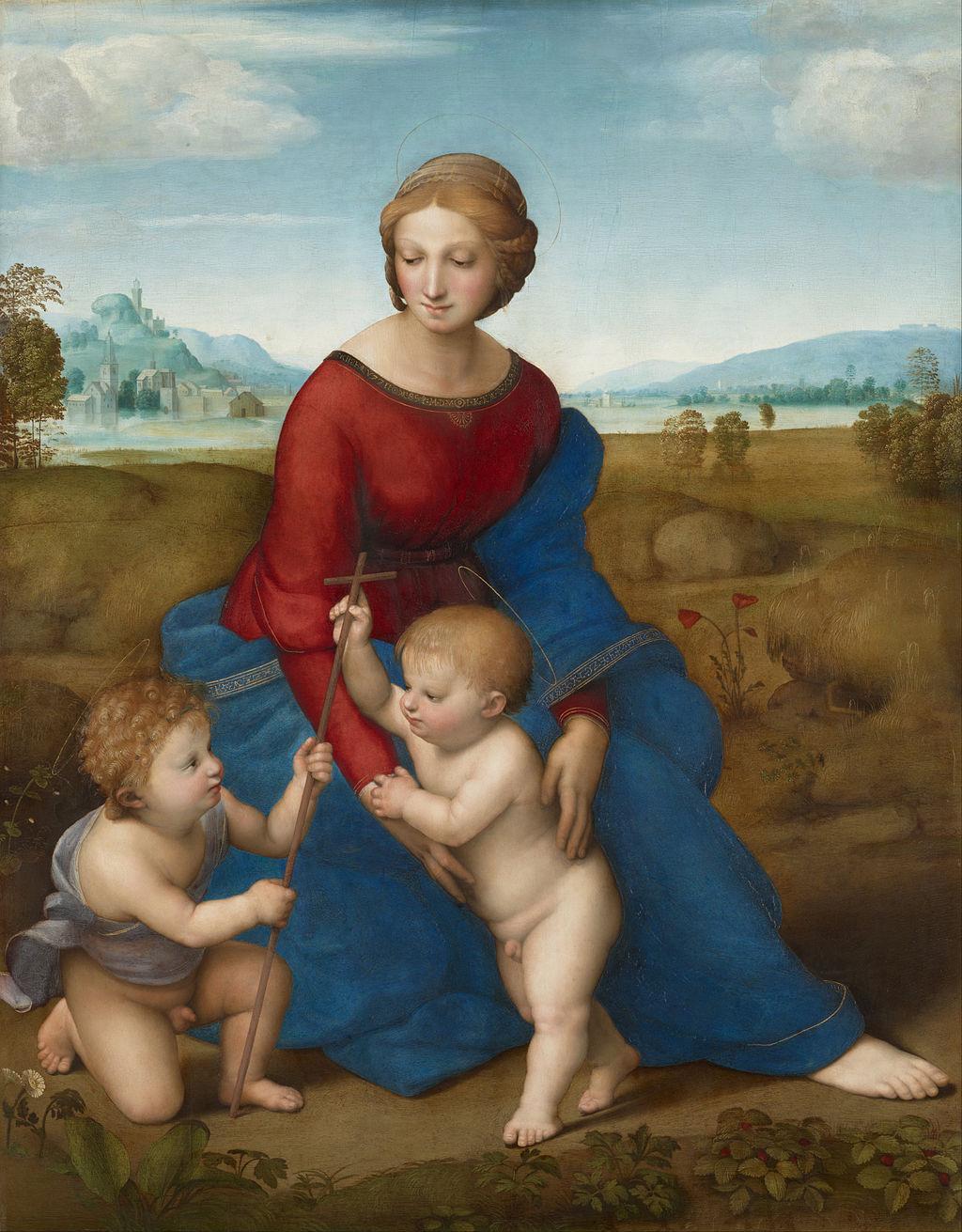 草地上的圣母
